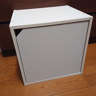 キューブボックス(扉付き) 収納棚・カラーボックス