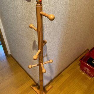 キッズ用 木製ポールハンガー