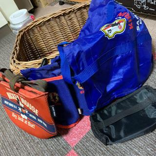 保冷バッグ、保冷ペットボトルカバー、籐編み込み籠 お値下げしました!