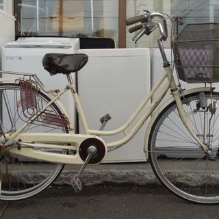 ジャンク 自転車 26インチ 3段変速 ママチャリ カゴ付…