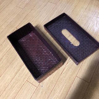 パンダン編み バリ島 アジアンインテリア ティッシュボックス ティッシュケース - 生活雑貨