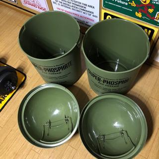 ゴミ箱 ダストボックス ドーム型 2個セット アメリカン カルチャーマート - 稲敷郡