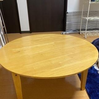 木製足折れテーブル