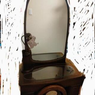 鏡台 中古 可愛いライト付き