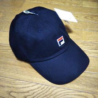 新品 FILA キャップ 帽子 ブラック