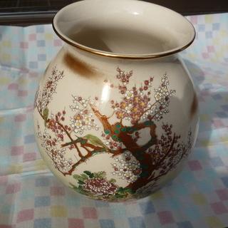 花瓶 つぼ 九谷焼 錦栄