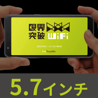 限界突破フリーWiFi 定額¥3.500
