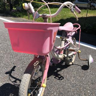 女の子用 自転車 補助輪付き 14インチ