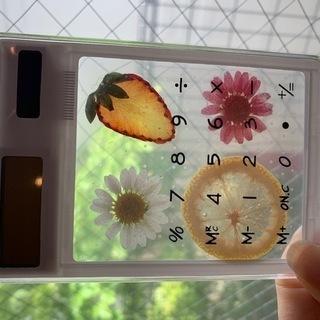 ハーバリウム電卓 フラワー