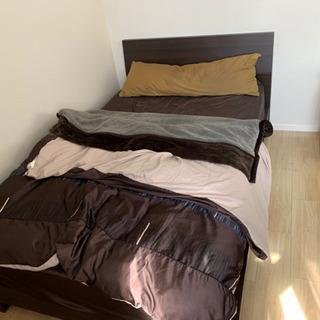 セミダブルベッド 寝具一式 ニトリ