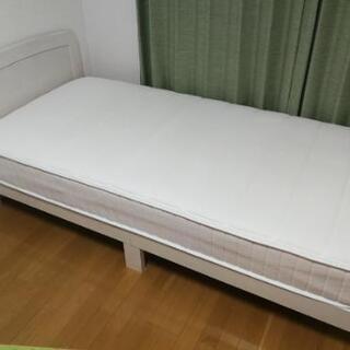 【値下げ】【1年使用】シングルベッド フレーム&マットレス