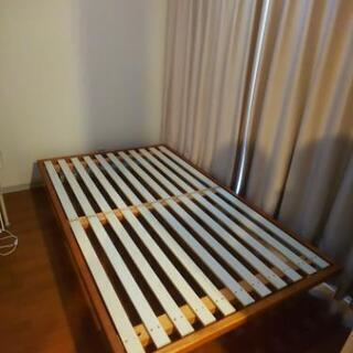 木フレーム セミダブルベッド