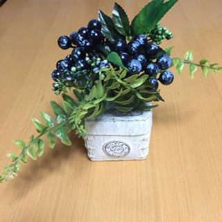 造花 フェイス グリーン 鉢物 (鉢 8cm角、高さ18cm)