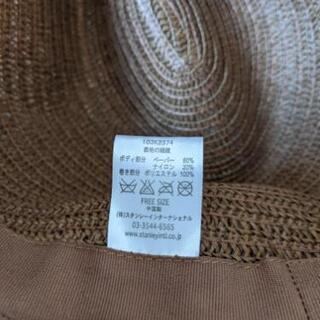 ストローハット 麦わら帽子 - 服/ファッション