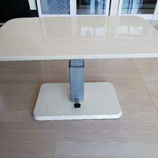 昇降式ダイニングテーブル ホワイト