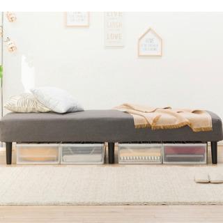 マットレス付きベッド +収納ケース  付きニトリ