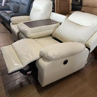 新品電動ソファー!本革です。79800円!ドイツ製のモータ…