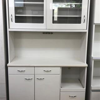 【リサイクルサービス八光 田上店 配達・設置OK】ホワイト 大型食器棚