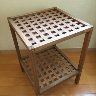 サイドテーブル シェルフ 木製