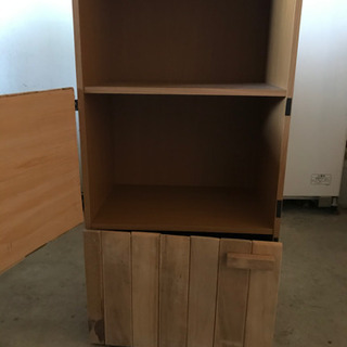 扉付き3段ボックス