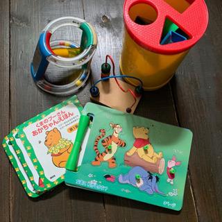 【5点セット】ベビー用おもちゃ+プーさん絵本(2冊入り)