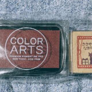 カラーアート インクパット 猫 スタンプ セット