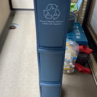 【無料】スリムタイプ3段ゴミ箱