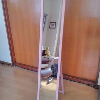 ピンクの鏡