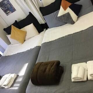 民泊で使用していたベッドスローのみ★色々あります★中古としてご理...