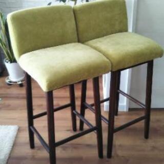 カウンターチェア バーチェア イス 椅子 チェア 2脚セット