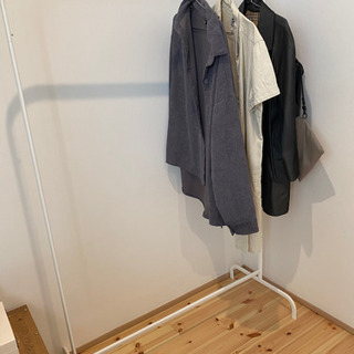 IKEA 洋服ラック ホワイト MULIG