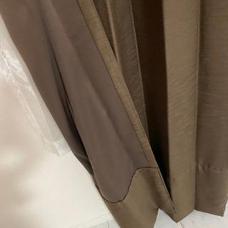 遮光カーテン ブラウン ロング 200×210cm