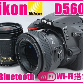 NIKON ニコン D5600 単焦点&標準レンズセット Wi-...
