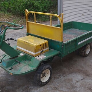 鹿児島発 築水キャニコムガソリンエンジン4輪運搬車ELS642