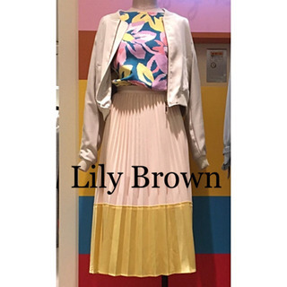 ☆Lily Brown☆リリーブラウン♡大花柄バックリボン…