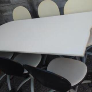 テーブル、椅子 幅w1600 奥行きD700 高さH700