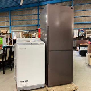 セットでお得!配送致します。SHARP 冷蔵庫&洗濯機セット 2...