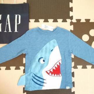 新品 ベビーギャップ GAP 95cm サメ ロンT ジョーズ ...