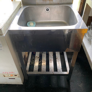 業務用シンク 水栓付き