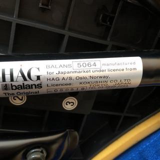 HAG バランスチェア 背もたれ付き ホーグ チェア 矯正