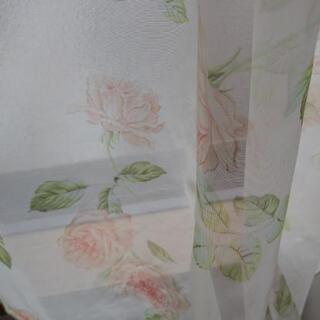 薔薇レースカーテン