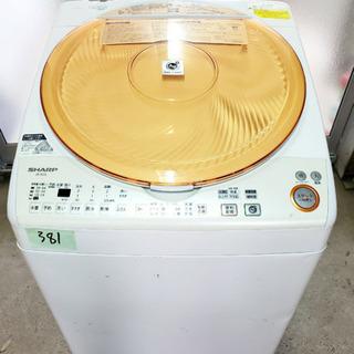381番 SHARP✨電気洗濯乾燥機✨ES-TX72-D‼️
