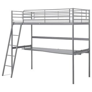 交渉中【IKEA】ロフトベツド スヴェルタ デスクトップ付き(未...