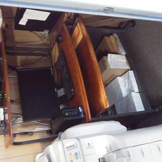 パソコンラック天板1枚板の高級タイプ。コンセント付き。2台。1台...