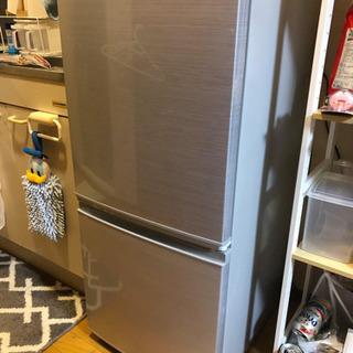 【即引取希望】[ほぼ新品] シャープ冷蔵庫 SJ-D14F-S
