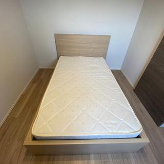 【無料】IKEA MALM セミダブルベッド マットレス付き