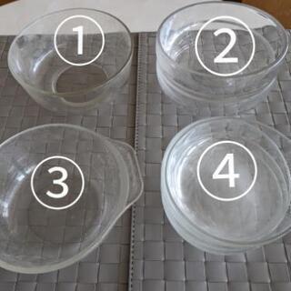 ガラス丸深皿