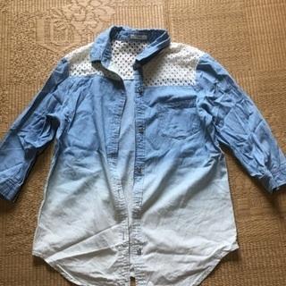 009 五分袖グラデーションシャツ