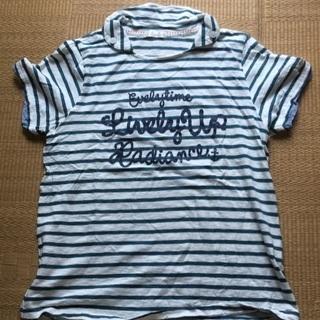 011 緑ボーダーTシャツ