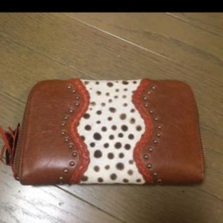 オーストラリアで購入 レザー 長財布 クラッチバッグ